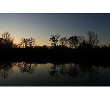 The Middle of Hidden Lake, Lisle, IL. Photographic Print