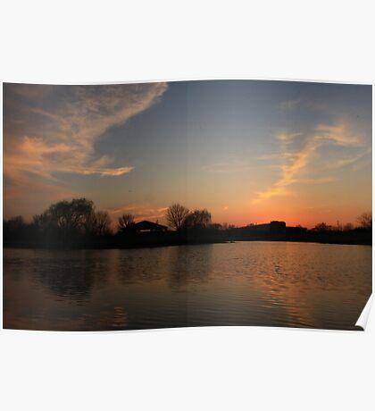 Sunset in Lisle Community Park Poster