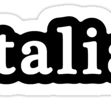 Italian - Hashtag - Black & White Sticker