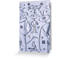 Toilet Paper Design Three - Family Alien Greeting Card