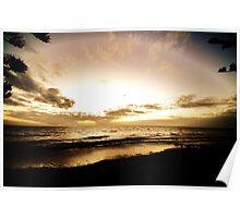Sea by Seawall Poster