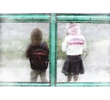 Bus Shelter Photographic Print