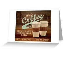 Castle's Coffee Greeting Card