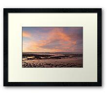 Sunset at the Severn Estuary Framed Print