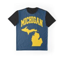 Michigan State College Style Design for Michiganians Graphic T-Shirt