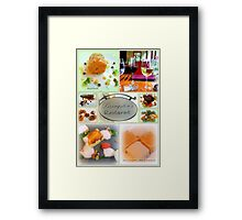 Gourmet Food Collage Framed Print