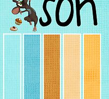 30th Son Birthday Card With Mouse by Moonlake
