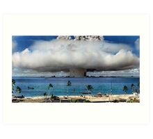 Colorized Operation Crossroads Baker, Bikini Atoll,1946 Art Print