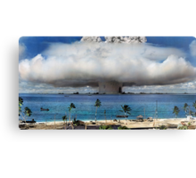 Colorized Operation Crossroads Baker, Bikini Atoll,1946 Metal Print