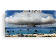 Colorized Operation Crossroads Baker, Bikini Atoll,1946 Canvas Print