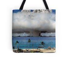 Colorized Operation Crossroads Baker, Bikini Atoll,1946 Tote Bag