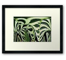 Abstract Greenery Framed Print