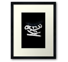 Shoe Lace and Jeans Framed Print