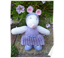 Hand Knitted Girl Mouse Poster
