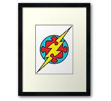 Autism Superhero, The Flash Framed Print