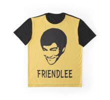 FRIENDLEE - A Friendly Bruce Lee Portrait and Pun Graphic T-Shirt