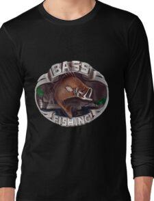 <º))))><   BASS FISHING TEE SHIRT <º))))><    Long Sleeve T-Shirt