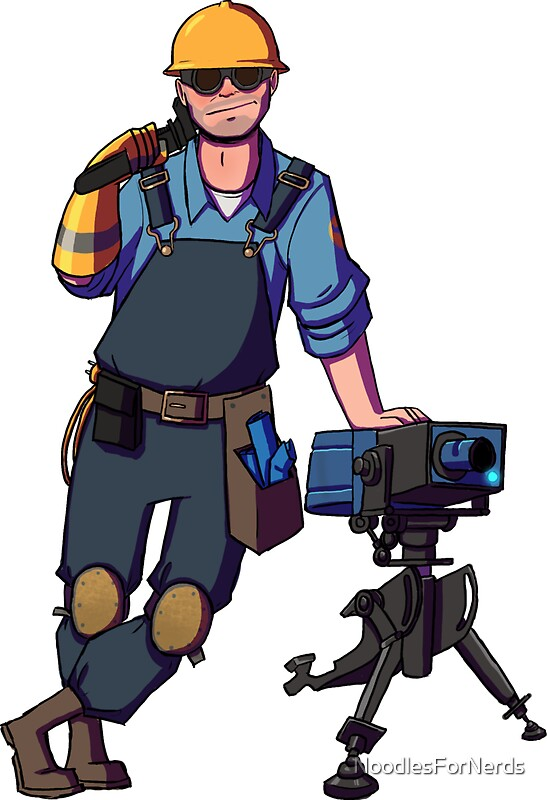 quotteam fortress 2 blu engineer sentryquot stickers by