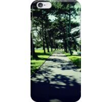 Tree Lined Pathway in the American Cemetery iPhone Case/Skin