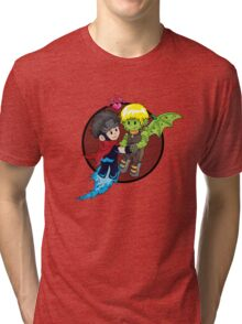 Wiccan and Hulkling Tri-blend T-Shirt