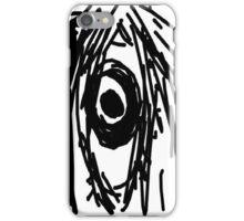 Black and White Digital Sketch of an Eye iPhone Case/Skin