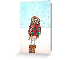 Burrowing Owl in an Ugly Christmas Sweater Greeting Card