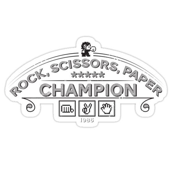 Rock scissors paper Champion - Kidd by GordonBDesigns
