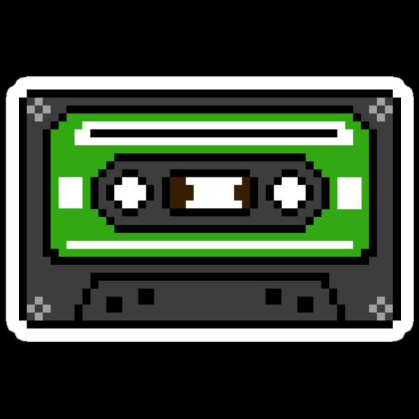 8 bit Old School Cassette Tape by PlatinumBastard