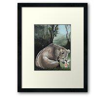 Kisses For Brother Bear Framed Print