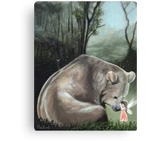 Kisses For Brother Bear Canvas Print
