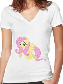 Fluttershy Women's Fitted V-Neck T-Shirt