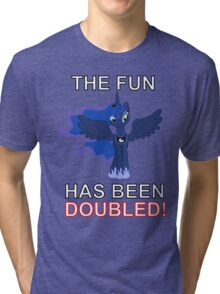 Luna Nightmare Moon - The Fun Has Been Doubled Tri-blend T-Shirt