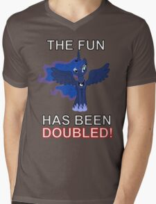 Luna Nightmare Moon - The Fun Has Been Doubled Mens V-Neck T-Shirt