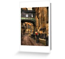 Cobblestone road in Dresden Germany Greeting Card