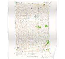 USGS Topo Map Washington State WA Farmington 241127 1964 24000 Poster