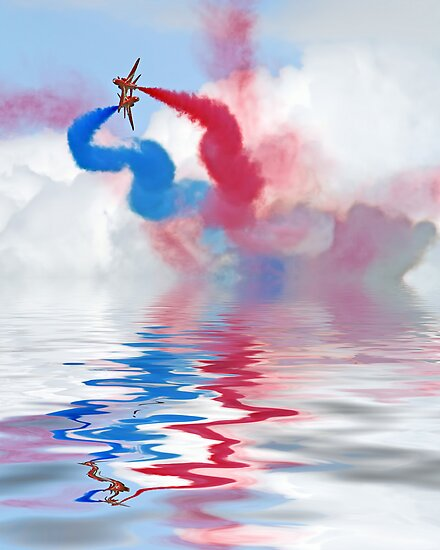 Flood Break - The Red Arrows by Colin J Williams Photography