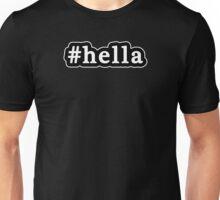 Hella - Hashtag - Black & White Unisex T-Shirt