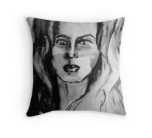 Simplistic Black & White Throw Pillow
