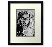 Simplistic Black & White Framed Print
