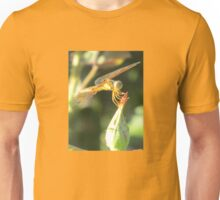 Dragonfly Perched on a Rosebud Unisex T-Shirt