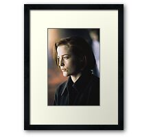 DANA SCULLY ALIEN AMAZING Framed Print