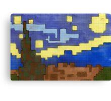 starry night pixel Canvas Print