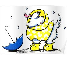 Westie Rainy Day Poster