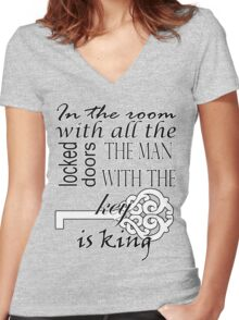 Sherlock - The room with all the locked doors Women's Fitted V-Neck T-Shirt