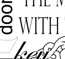 Sherlock - The room with all the locked doors Sticker