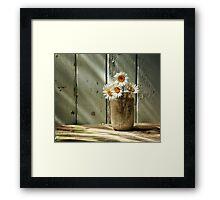 A Jar of Daisies Framed Print