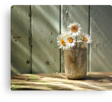 A Jar of Daisies Metal Print