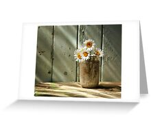 A Jar of Daisies Greeting Card