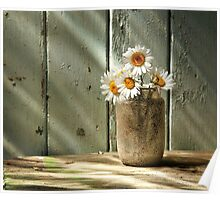 A Jar of Daisies Poster