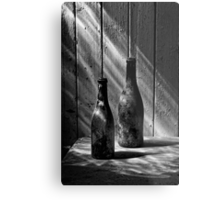 Old Wine Bottles Metal Print
